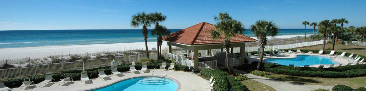 Where to find photos of Panama City Beach condo rentals at Coral Reef Condos