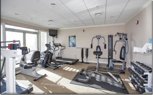 Photo of our fitness center and weight room