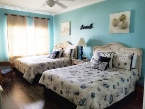 Cute guest bedroom with coastal theme
