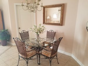 Dining area in this beach vacation rental