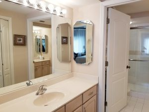 Master bath with shower.